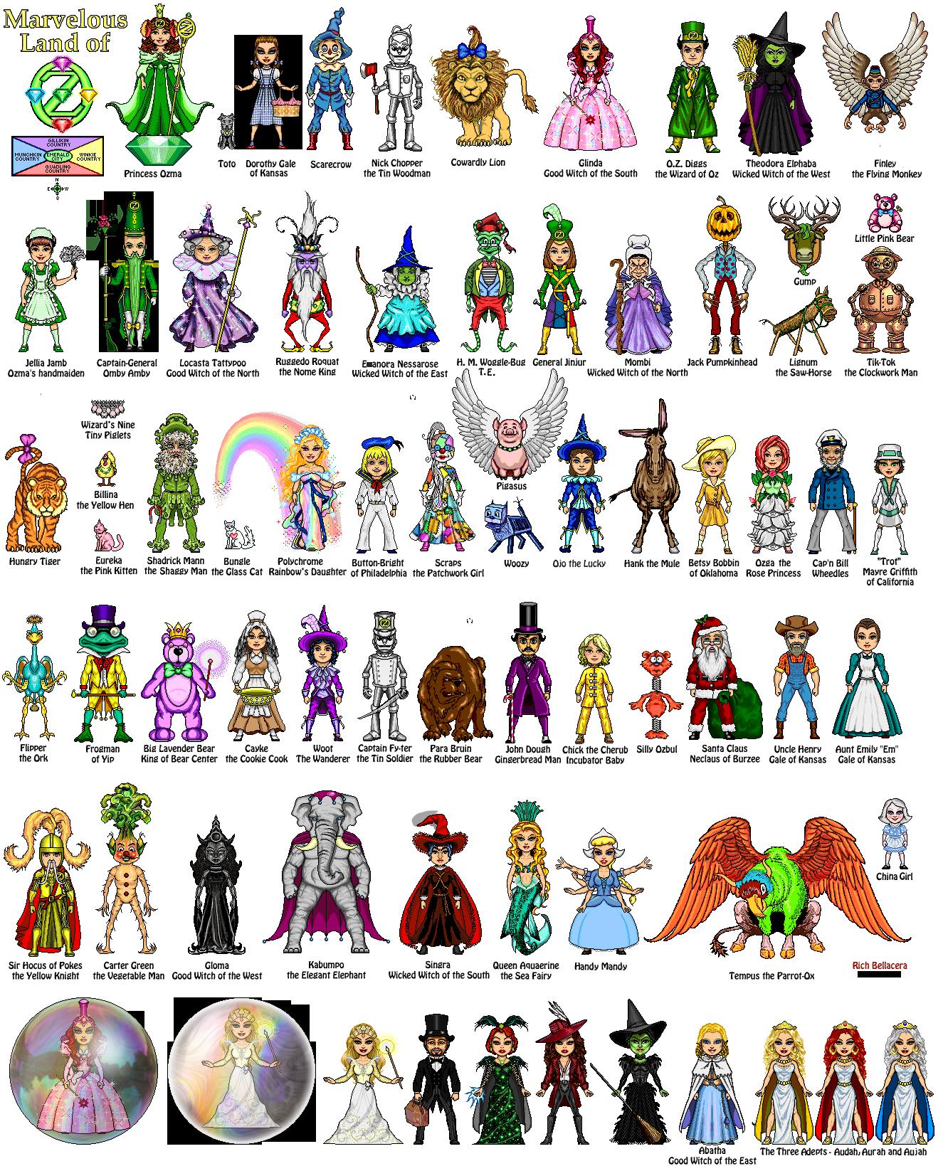 Oz Characters - 1.12 MB